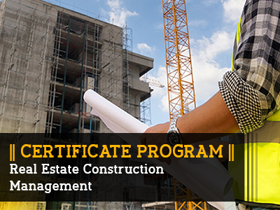 Certificate Program – Real estate Construction Management || 4 Months || Self Learning Course