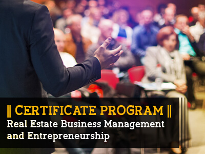 Certificate Program_Real Estate Business Management and Entrepreneurship