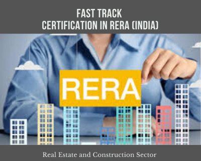 Certificate in RERA ( Fast Track )